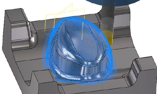 Mastercam-3D-混合等距加工