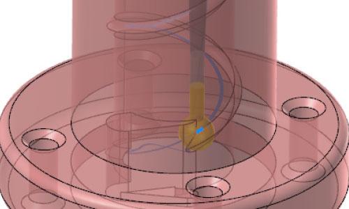 mastercam-2.5d-棒棒球刀螺旋溝加工